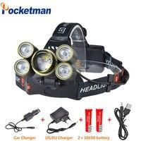 15000lm led 전조 등 7 led 랜턴 xml t6 헤드 램프 zoomable 토치 헤드 라이트 lanterna 헤드 램프 손전등 사용 18650 배터리