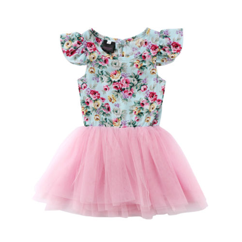 Helen115 Lovely Infant Kids Baby Girls Clothes Cotton Sleeveless Floral Lace Dress Outfits 1-5Y комплект аксессуаров для волос lovely floral