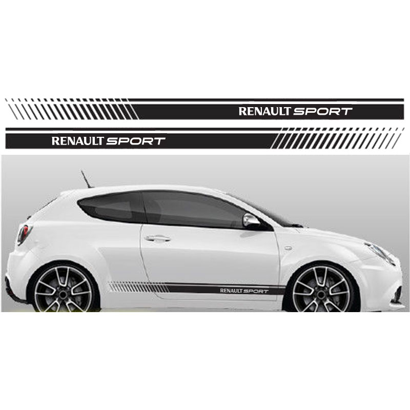 Car Stickers Automobile,2pcs Stickers For Renault Side Racing Stripes 011 Decal Vinyl Graphics Stickers Clio Megane Twingo Lu-ujj Automobiles & Motorcycles