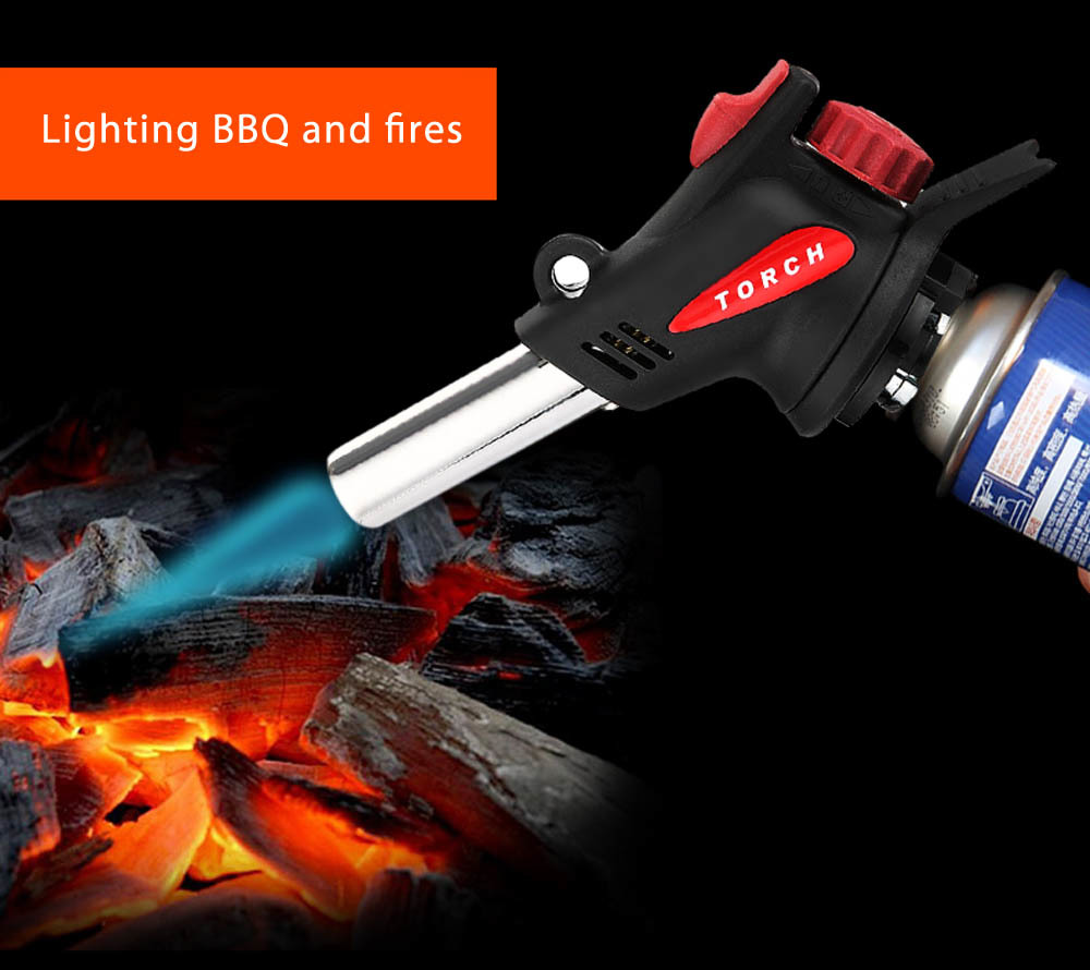 Butane Gas Torch Flamethrower Automatic Ignition Welding Outdoor Camping Barbecue Stove Equipment For Hiking Outdoor Survival butane torch