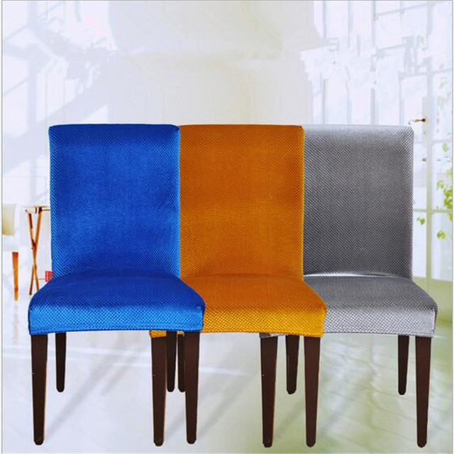 1PCS Jacquard Spandex Stretch Dining Chair Covers Machine Washable  Restaurant For Weddings Banquet Folding Hotel Chair