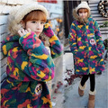 2016 Cute Ladies Fashion Colorful Clothing Quality Winter Cashmere Woolen Coat Flocking Cotton Attractive Warm Outwear Overcoat