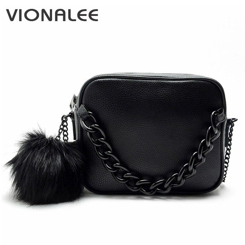 Famosos bolsos de marca de diseñador bolso la mujer bola de peluche de la cadena