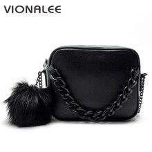 Famous brand handbags women shoulder bag designer plush ball chain leather bag small crossbody bags for