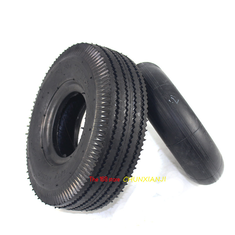 4.10/3.50-4 Tyres 4.10-4 3.50-4 Tires And Inner Tube Fit Electric Tricycle, Trolley,Electric Scooter,warehouse Car 10 Inch Tyre