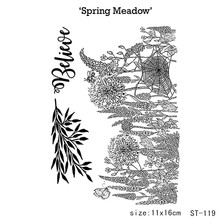 Spring meadow/Transparent silicone Stamp for DIY Scrapbooking/Photo Album Decorative Card Making Clear Stamps Supplies