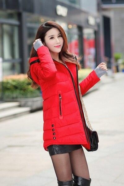 ZOGAA Women Long Pattern Parka Coat Fashion Warm Slim Hooded Down Padded Jacket Outerwear Cotton Casual Jacket 3