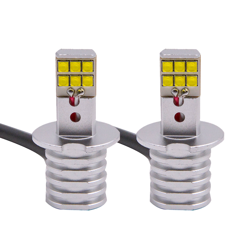 2pcs High Power <font><b>H3</b></font> <font><b>LED</b></font> Replacement Bulbs For Car Fog Lamp, Daytime Running Lights, DRL Lamps white yellow with <font><b>cree</b></font> chips image