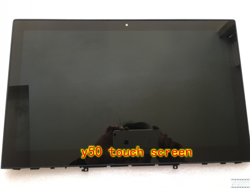 15.6 For Lenovo y50 Y50-70 FHD LCD LED Touch Screen Assembly LP156WF4 B156HTN03.6 quying laptop lcd screen for lenovo y50 y50 70 series 15 6 inch 1920x1080 30pin ips n