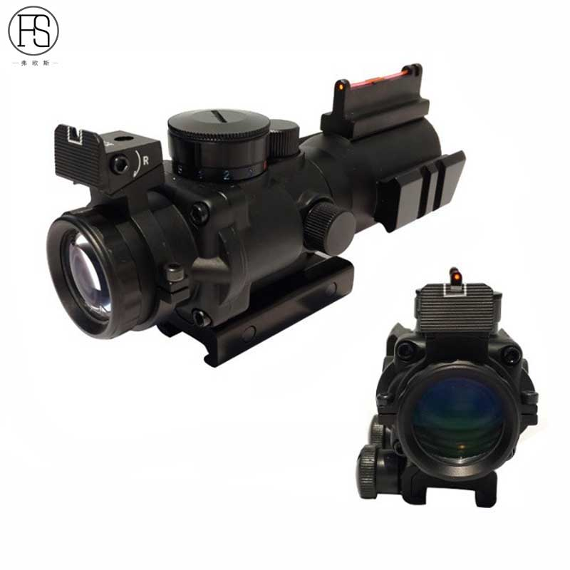 2017 New 4x32 Acog Riflescope Reflex Optics Scope Tactical Sight Rifle Airsoft Outdoor Hunting Gun Rifle Fit For 20mm Rail tactical 4 x 32 air rifle optics sniper scope reviews sight hunting riflescope scopes rail mount 20mm