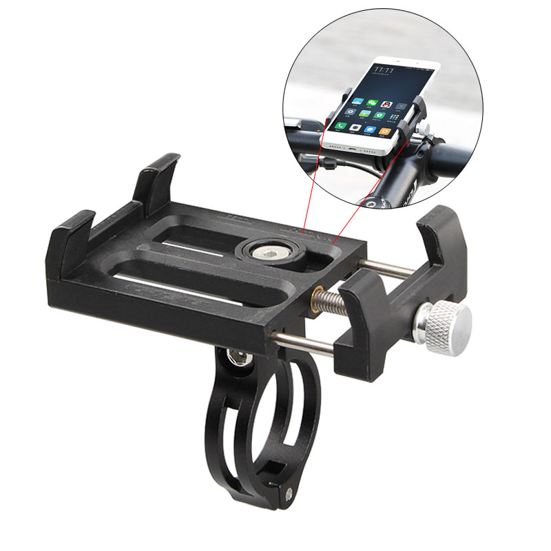 Free shipping Adjustable MTB Bike Phone Stand Support Holder Bicycle Clip Mount 3 5 6 2inch Smartphone Stand For Huawei iPhone X in Phone Holders Stands from Cellphones Telecommunications