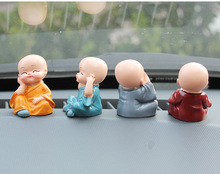 4Pcs/Set The Little Monk For Home Decorations Figurines