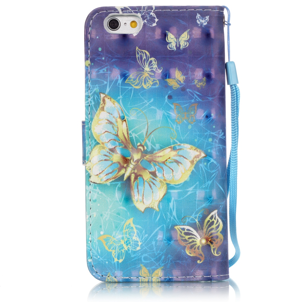 Para Iphone 7 Cartoon 3D Vision Flower Tower Cartera de cuero Flip - Accesorios y repuestos para celulares - foto 4