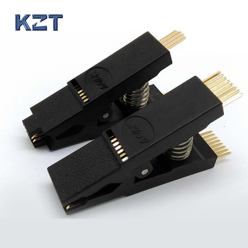 2PCS /Lot BIOS SOP8 + SOP16 Original Straight Test Clip Pin Pitch 1.27mm SOIC8/16 Universal Body Programming Clip the latest test fixture sop8 pin bios clip width 8 pin universal adapter clip body clip clip burning chip