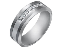 Free Shipping High Quality Real 857 Tungsten His Hers 0 21ct NSCD Synthetic Diamond 8mm Wedding