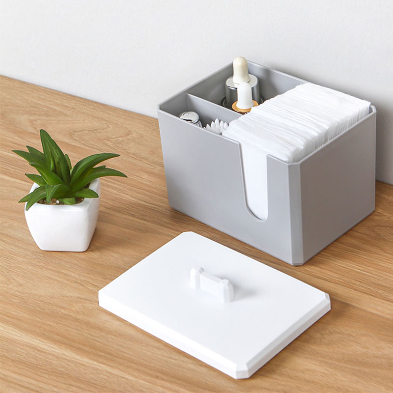 050 Cotton Receiving Box Cotton Swab Box Desktop Receiving Multifunctional Cotton Cosmetics Receiving Portable storage box in Storage Boxes Bins from Home Garden