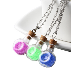 Cute design flagon shape cork bottle with pure color nice filler pendant necklace for female jewerly.jpg 250x250