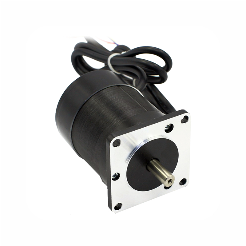купить Square flange 57mm Round body 24V 3000RPM 69W 0.22N.m Brushless DC Motor 3phase body length 75mm BLDC motor онлайн