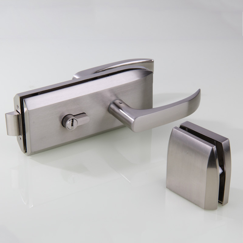 ФОТО High partition office Single door lock With handles, Glass door Central Lock, for glass thickness 10-12mm.
