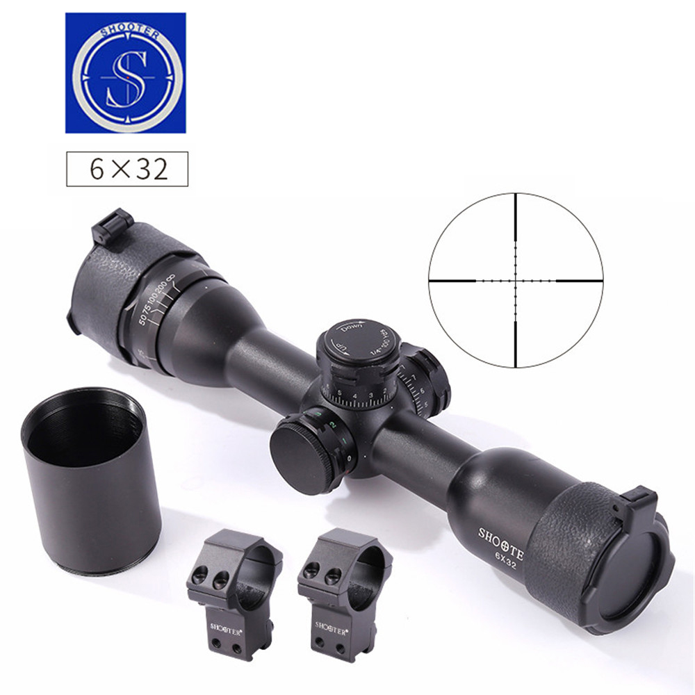 SHOOTER 6X32AOL Optic Outdoor  Sight Traveling Hunting Rifle Monocular telescope High quality gun accessories