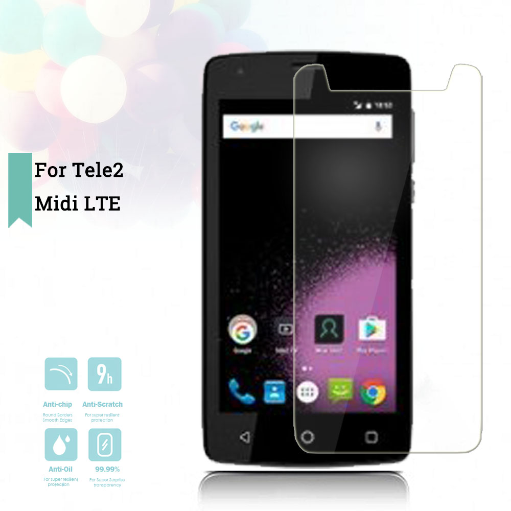 2 5D 0 26mm Ultra Thin Tempered Glass Tele2 Midi LTE Toughened Protector Film Protective Screen Case Cover Universal in Phone Screen Protectors from Cellphones Telecommunications