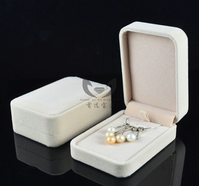 High Quality Velvet Jewelry Gift Box Fit For Necklace Drop Earrings