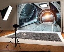Nave espacial Interior futurista cosmic brilhante backdrops Vinil Fundo da parede de pano de Alta qualidade de impressão Computador