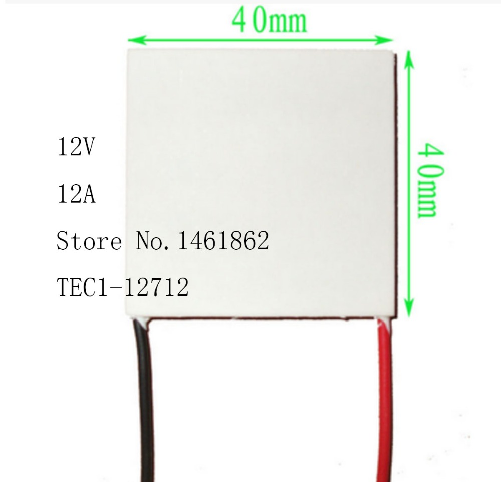 TEC1-12712 12V 12A 107W 40*40mmThermoelectric Cooler Peltier Cells Module Cooling plate mechanism of semiconductor refrigeration automatic image segmentation of hela cells