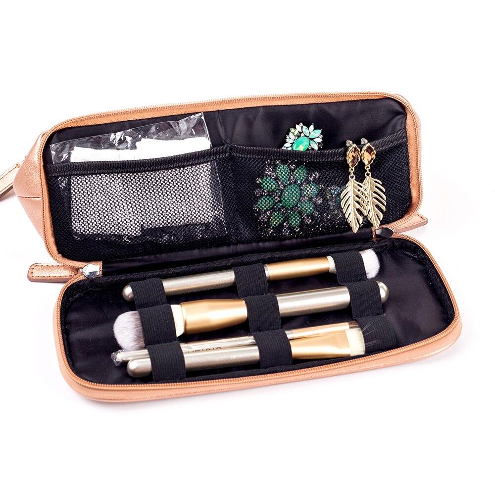 Mealivos Rose Gold Handbag Case Makeup Cosmetic Storage Bags Pouch Travel Kit Organizer