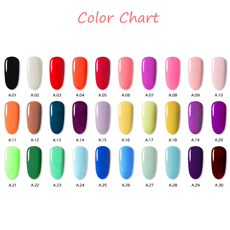 Image 5 - Woobela 30pcs Semi Permanent UV Gel Nail Polish Set Soak Off LED Nail Gel Lacquer Solid Pure Color Nail Painting Gel-in Nail Gel from Beauty & Health