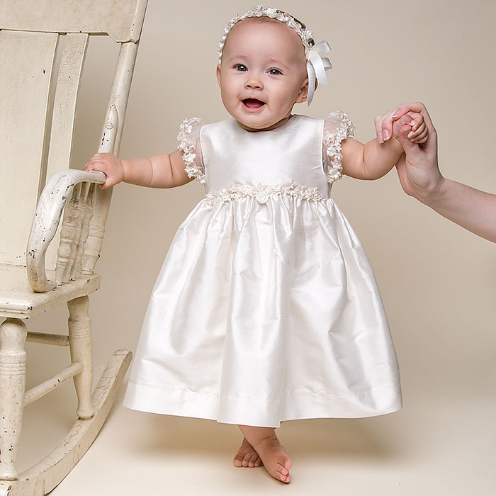 Baby Christening Gowns Lovely new and knee-length dress birthday baby girls dress baby girl Baptism gowns vestido de noiva свадебное платье wedding dress v vestido noiva w1201