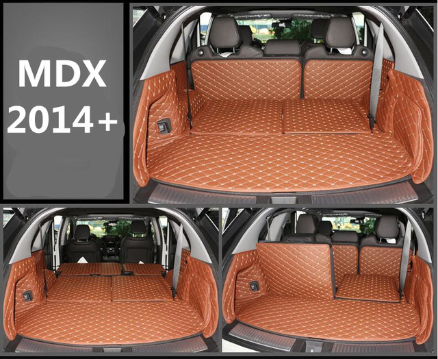 Full Rear Trunk Tray Liner Cargo Mat Floor Protector Foot Pad Mats For Acura Mdx 2017 2016 2018 5 7seats