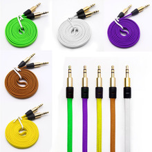 1M/3FT Strong Braided Fabric Noodle 3.5MM Stereo Jacks Male to Male Gold Plated Audio Cable AUX Auxiliary Cord