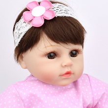 Newest 16 Inch Reborn Baby Doll kids Playmate Gift Accompany Sleep Toys For Babies Realistic Dolls christmas gift NPKDOLL