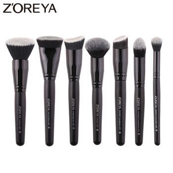 Zoreya Brand 7pcs black makeup brushes set for women Cosmetic tool Nylon hair brush wood handle Professional brushes Tools - DISCOUNT ITEM  41% OFF All Category