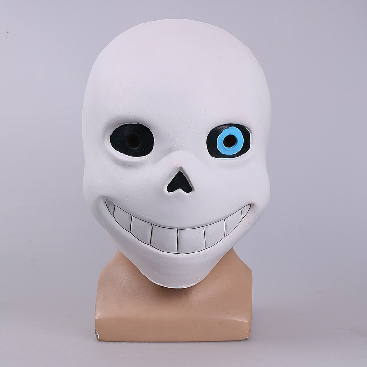 Full head Undertale Sans Latex Masks Cosplay Funny White Helmets Shores Of Halloween Party Fancy Christmas Balls (7)