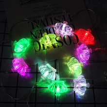 10 Led Crown Festival Decoration Light Christmas Fairy Lights garland Outdoor Home For Wedding/Party/Curtain/Garden Decoration/C