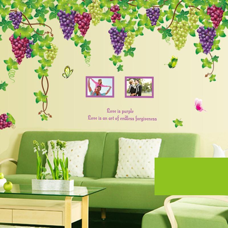 Uva Marco de Fotos Pegatinas de Pared de casa decoración adesivo de parede Dormi