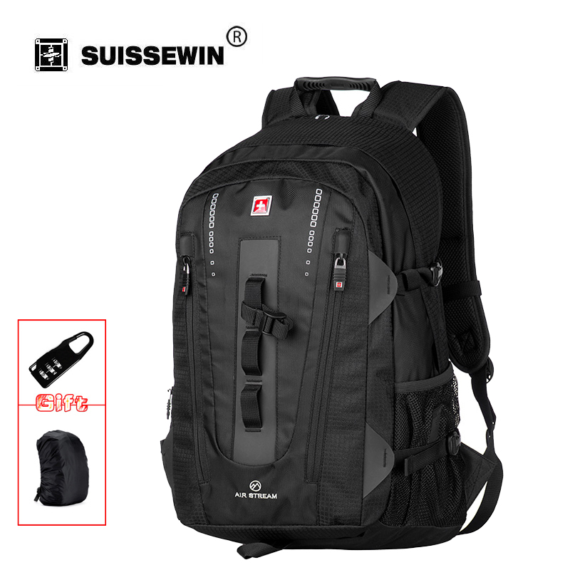 Swisswin travel laptop backpack for 15.6 inch notebook business bag brand swiss multi-use waterproof backpack case brand SW9972 14 15 15 6 inch flax linen laptop notebook backpack bags case school backpack for travel shopping climbing men women
