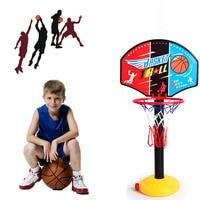 Primary Kids Mimi Basketball Hoop Rim Net Set Backboard Basket Ball Adjustable 72 108cm Red Basketball Hoop+Basketball+Pump