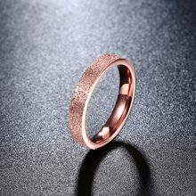 2017 Fashion Titanium Steel Rose Gold Color Ring With Frosting Surface Elegant Snake Couple Rings Engagement Ring Fine Jewelry