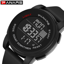 PANARS Men Watch Sport Luxury Brand Mens Digital Watches For Men Waterproof Clock Silicone Electronic WristWatch montre homme