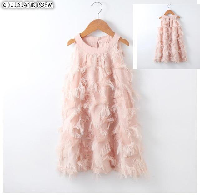 Dopasowane sukienki dla córki matki letnia rodzina pasujące ubrania bez rękawów Tassel Party Family Look mama córka sukienka ubrania
