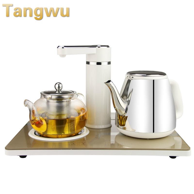 Free shipping NEW  Automatic water supply electric kettle boiling tea set free shipping 2015 yr new tea premium jasmine pearl tea jasmine longzhu flower tea green tea 250g bag vacuum packaging
