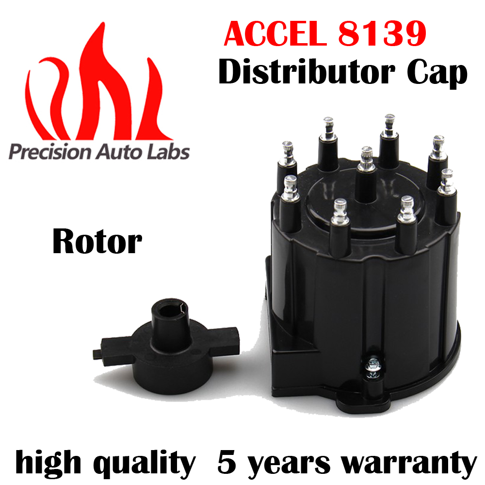 PRECISION AUTO LABS Car Replacement Parts Ignition Distributor Cap and Rotor for Chevy V8 Ignition System High Performance