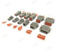 Deutsch DTM 2/3/4/6/8/10/12 P AUTO femenino masculino impermeable conector con Pasadores/Terminales automotriz sellado PLUG