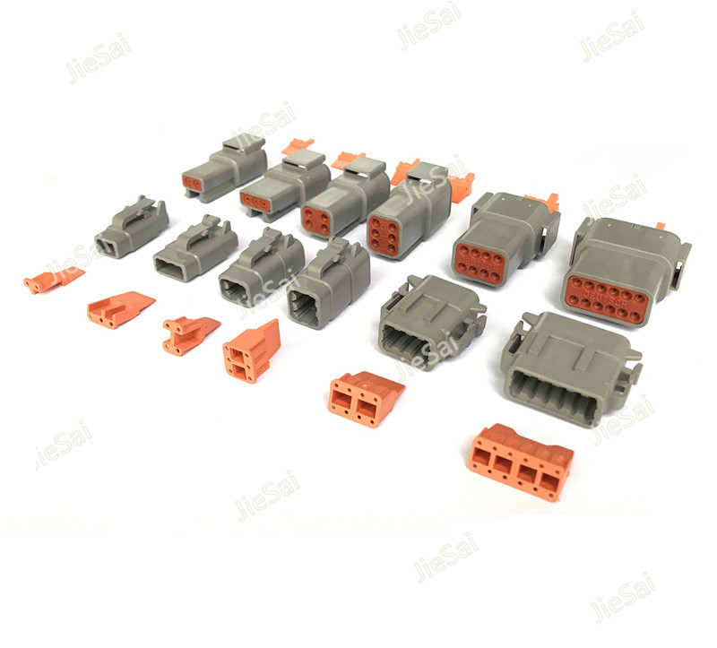 цена на Deutsch DTM 2/3/4/6/8/10/12P Male Female Auto Waterproof Connector With Pins/Terminals Automotive Sealed Plug