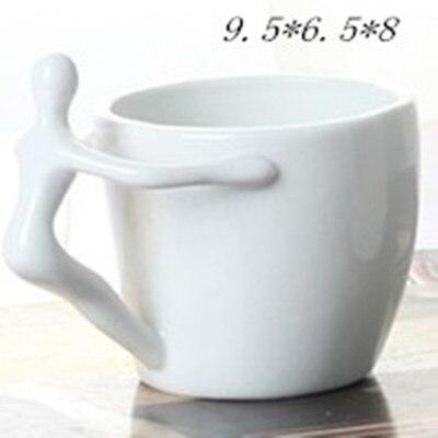 Unique Shaped Coffee Mugs online shop doll handle white ceramic cartoon mugs unique shape