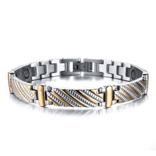 Mprainbow Men'S Magnetic Therapy Bracelet for Men Jewelry St