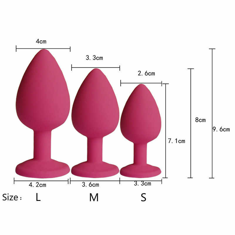 AUEXY Erótico Sexy Jeweled Plug Anal Buttplug Silicone Adulto Sextoys para a Mulher Homem Gay Analplug Instrutor Produtos Sexo Sem Vibrador